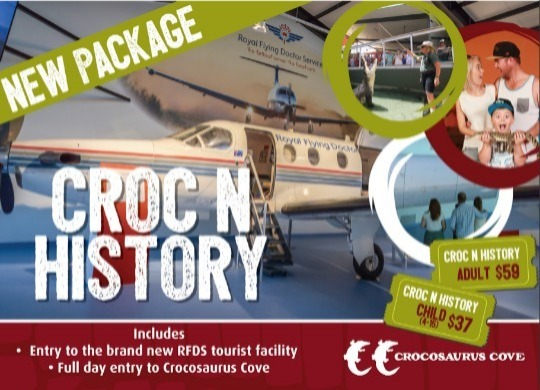 This ticket includes entry to RFDS Tourist Facility and Crocosaurus Cove as a dual ticket